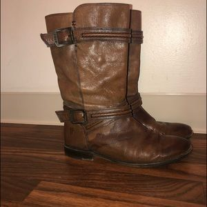 Frye 76115 Distressed Leather Boots 8.5